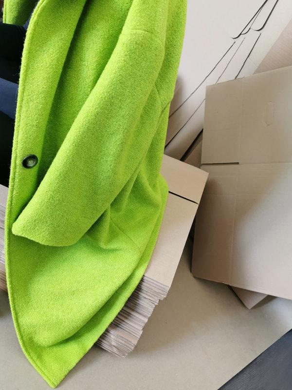 mantou verde din lana